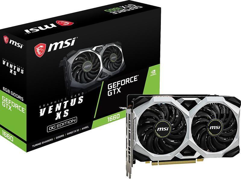 MSI GeForce GTX 1660 Ventus XS OC HDMI 3xDP 6GB